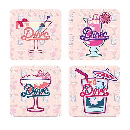 Porta Copos Drink Diva - 4 pecas