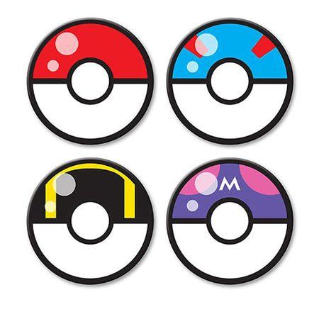 Porta Copos Pokebola Pokemon - 4 pecas