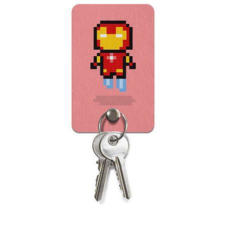 Porta Chaves Homem de Ferro Pixel Marvel