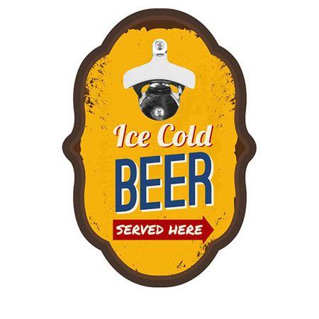 Abridor de Garrafa Colonial Cerveja ICE Cold Beer