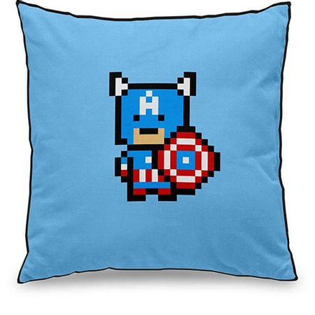 Almofada Capitao America Pixel Marvel