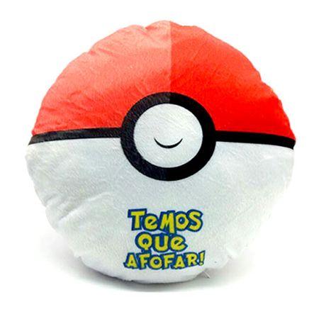 Almofada Pokemon Pokebola Temos que Pegar