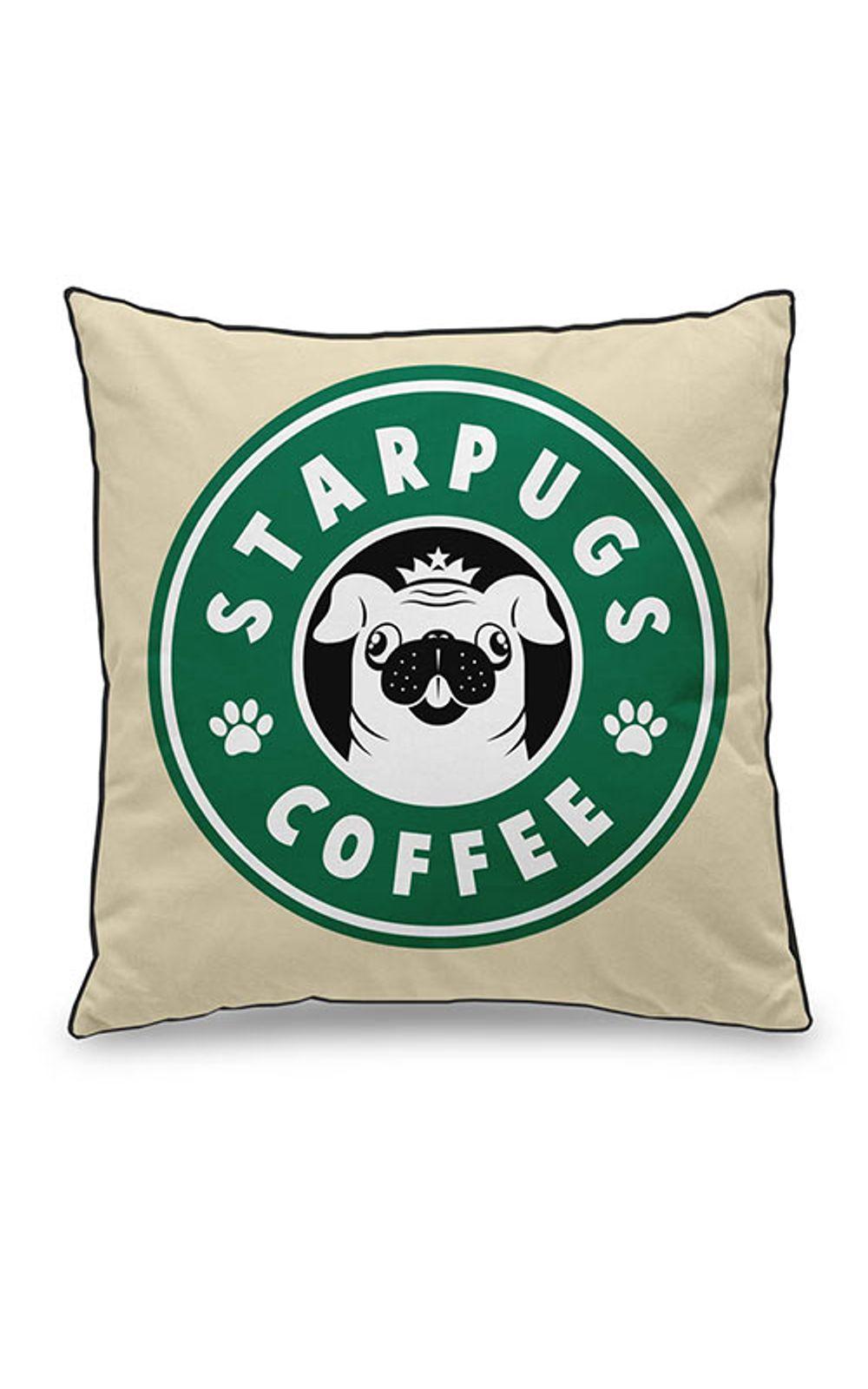 Foto 1 - Almofada Cachorro Pug Starbucks