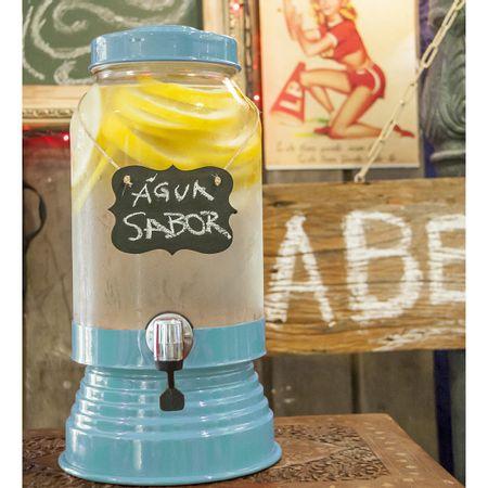 Suqueira de Vidro 3,2 litros Azul Bebe