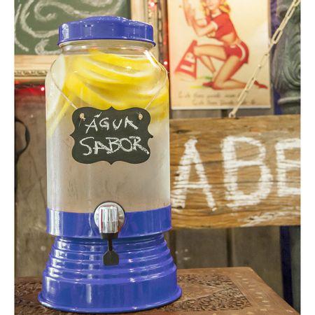 Suqueira de Vidro 3,2 litros Azul Escuro