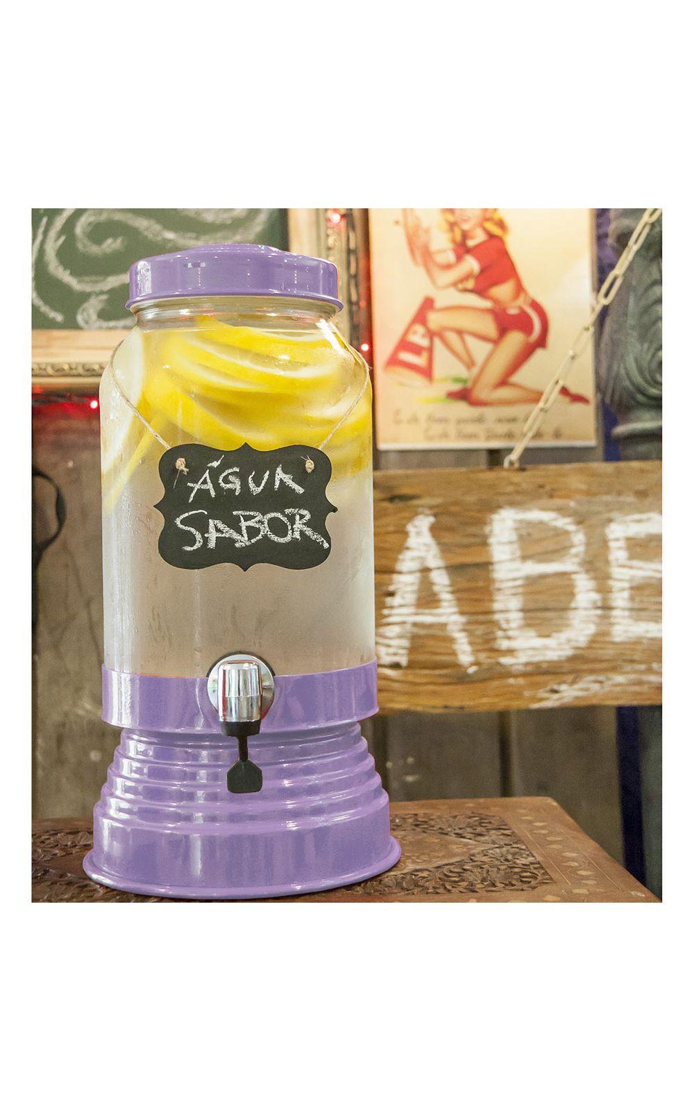 Foto 1 - Suqueira de Vidro 3,2 litros Lilas Claro