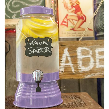 Suqueira de Vidro 3,2 litros Lilas Claro