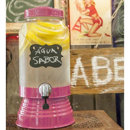 Suqueira de Vidro 3,2 litros Rosa Pink