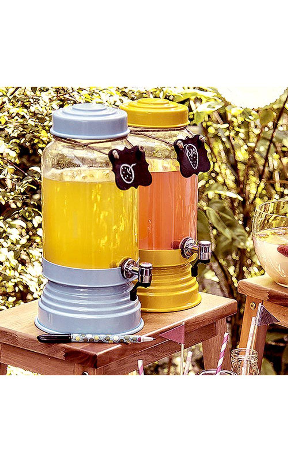 Foto 2 - Suqueira de Vidro 3,2 litros Vermelha Metalizada