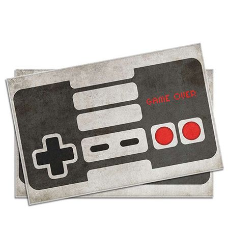Jogo Americano Gamer Joystick Retro - 2 pecas