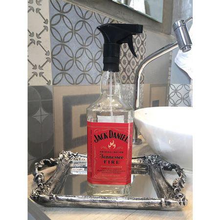 Saboneteira Garrafa de Whisky Jack Daniels Rotulo Vermelho