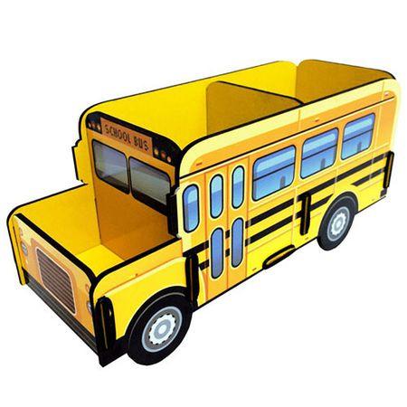 Porta Lapis e Controle Remoto Onibus Escolar Amarelo