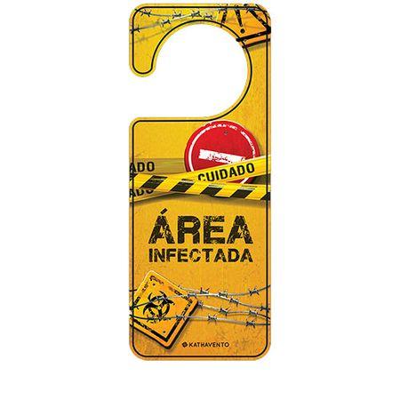Aviso de Porta Area da Bagunca Infectada