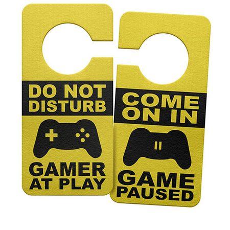 Aviso de Porta Ecologico Gamer at Play Joystick