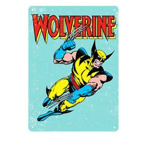 Placa Decorativa em MDF Wolverine Marvel