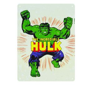 Placa Decorativa em MDF Hulk Marvel