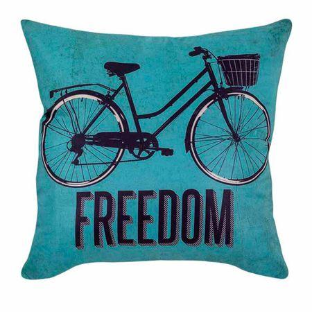Almofada Retro Freedom Liberdade Bicicleta Vintage