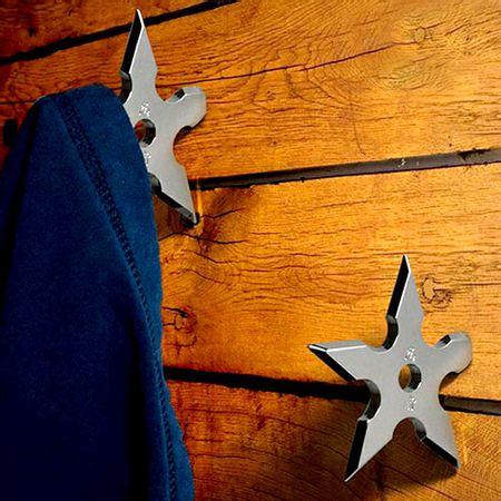 Cabideiro de Metal Gancho Estrelas Ninja - 1 unidade