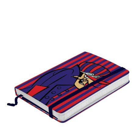 Caderno de Anotação com Elástico Dick Vigarista Corrida Maluca Hanna Barbera