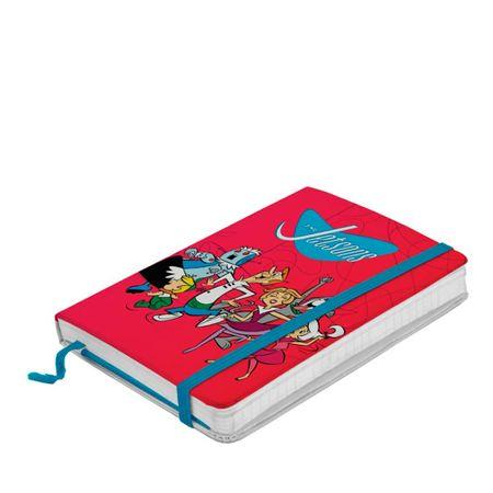 Caderno de Anotação com Elástico Familia Feliz Os Jetsons Hanna Barbera