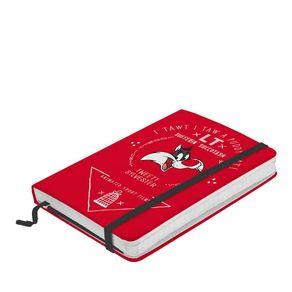 Caderno de Anotação com Elástico Frajola Lonney Tunes Hanna Barbera