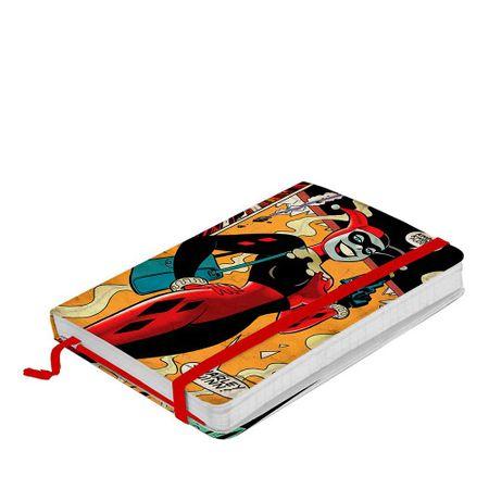 Caderno de Anotação com Elástico Arlequina Dc Comics