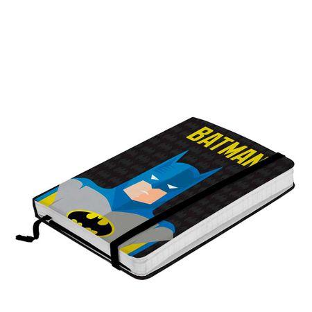 Caderno de Anotação com Elástico Batman Minimalista Dc Comics