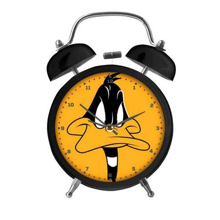Relógio de Mesa Despertador em Metal Patolino Looney Tunes