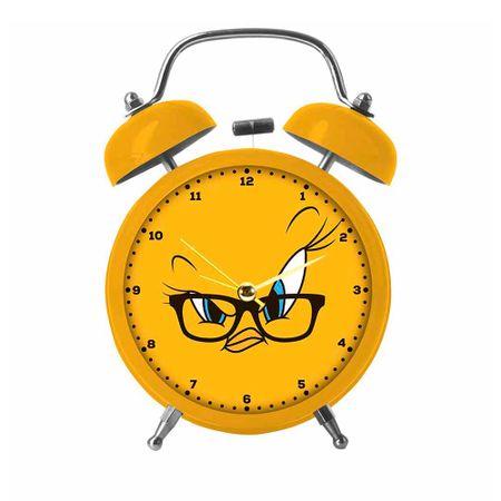 784e3c42841 Relógio de Mesa Despertador em Metal Piu Piu Looney Tunes