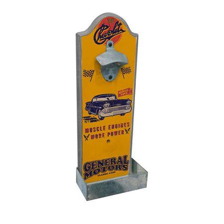 Abridor de Garrafa de Parede Muscle Engines Carro GM Chevrolet