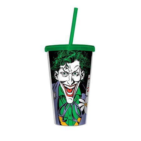 Copo com Canudo Coringa Verde Batman Dc Comics