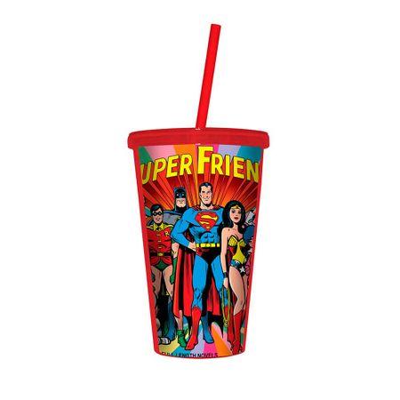 Copo com Canudo Liga da Justiça Dc Comics