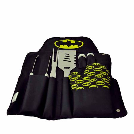 Avental de Cozinha Kit para Churrasco Batman DC Comics - 7 Pecas