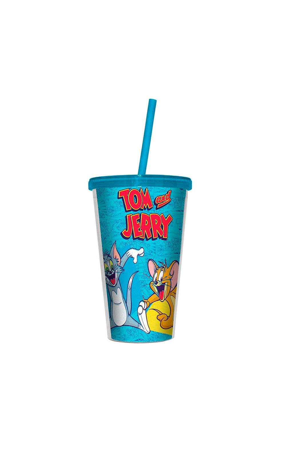 Foto 1 - Copo com Canudo Tom and Jerry Felizes Hanna Barbera