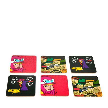 Porta Copos Corrida Maluca Hanna Barbera - 6 Unidades