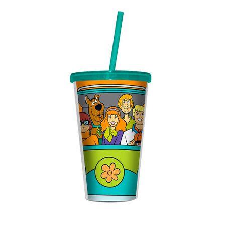 Copo com Canudo Turma Scooby Doo Hanna Barbera