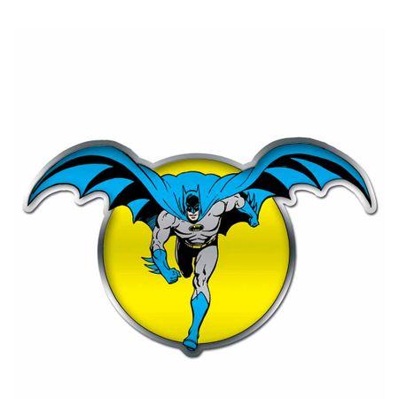 Placa Decorativa de Metal Recortada Batman e a Lua DC Comics