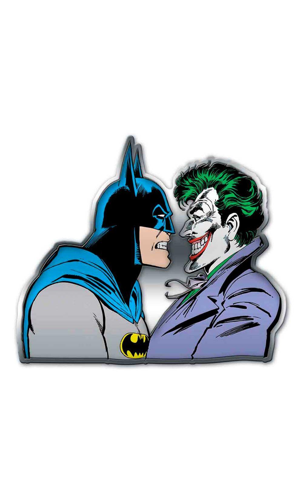 Foto 1 - Placa Decorativa de Metal Recortada Batman e Coringa DC Comics