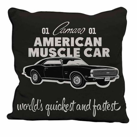 Almofada Carro American Muscle Car Preto GM Chevrolet