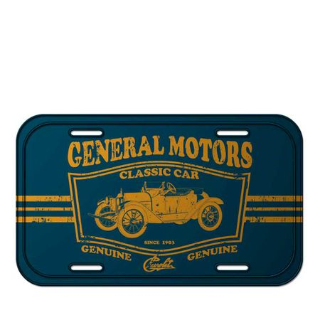 Placa de Metal Carro Jalopy Classic Car Listras Azul GM Chevrolet