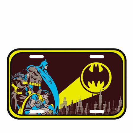 Placa de Metal Sinal de Alerta Batman Dc Comics