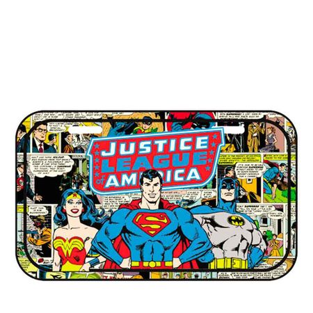 Placa de Metal Liga da Justiça Dc Comics