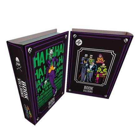 Caixa Livro Madeira Viloes Coringa DC Comics