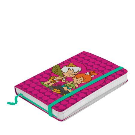 Caderno de Anotação com Elástico Bambam e Pedrita Flinstones Hanna Barbera
