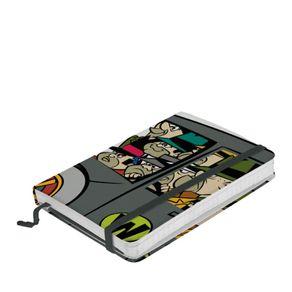 Caderno de Anotação com Elástico Quadrilha da Morte Corrida Maluca Hanna Barbera