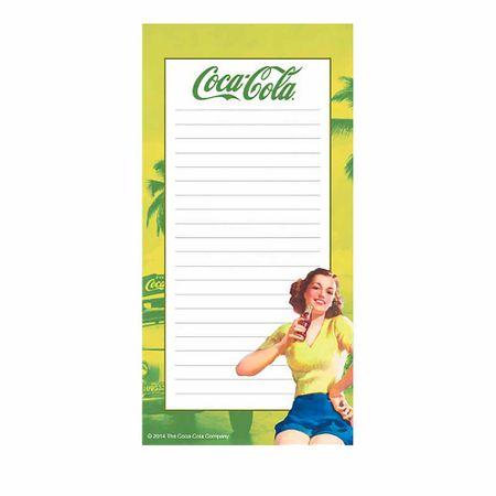 Caderno de Anotações com Imã Pin Up Brown Lady Am Coca Cola