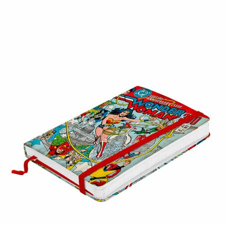 Caderno de Anotação com Elástico Super Herois Dc Comics