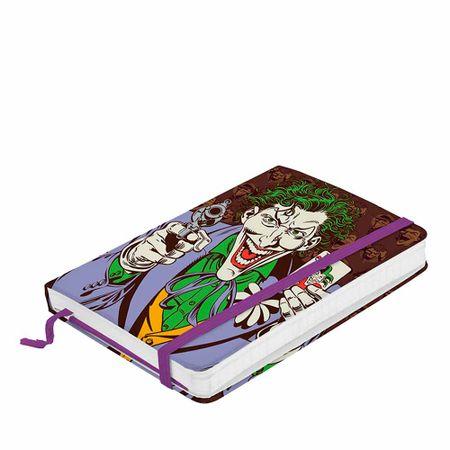 Caderno de Anotação com Elástico Coringa Batman Quadrinhos Dc Comics