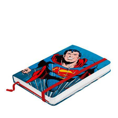 Caderno de Anotação com Elástico Super Homem Azul Dc Comics