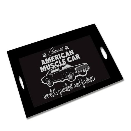 Bandeja de Madeira American Muscle Car Carro GM Chevrolet